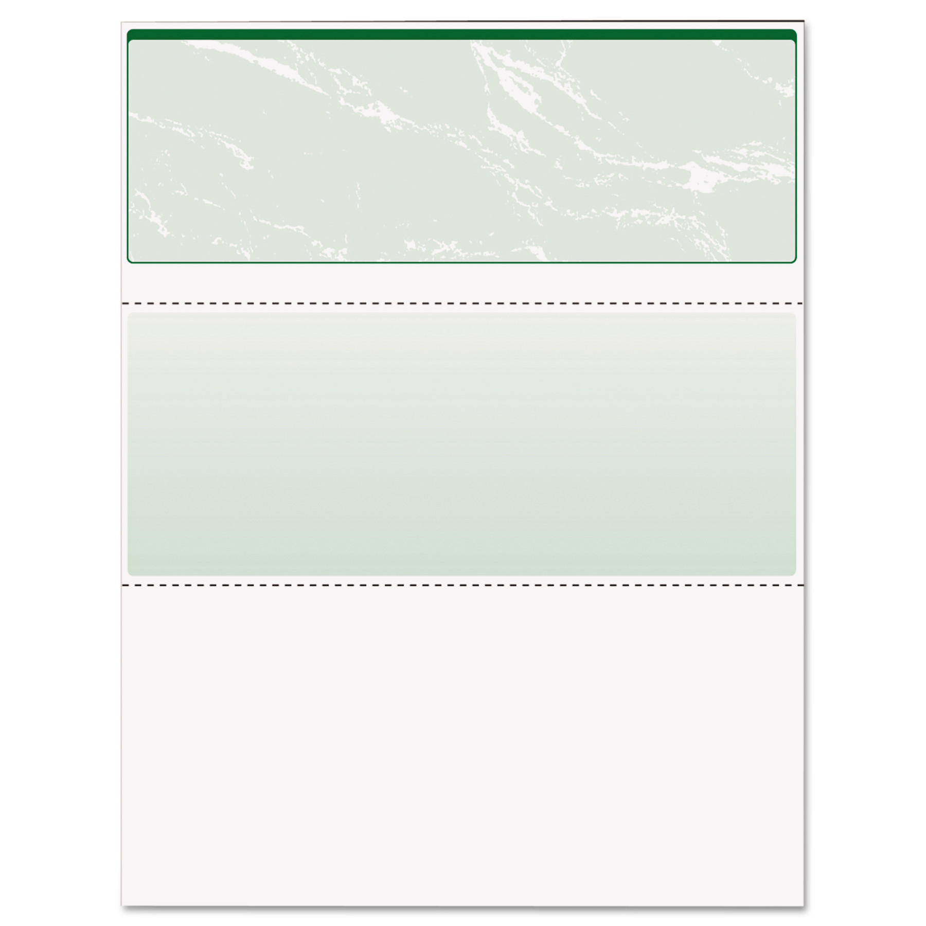DocuGard Standard Security Check, Green Marble Top, 11 Features, 8 1/2 x 11, 500/RM