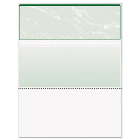 725 Check (DocuGard Standard Security Check, Green Marble Top, 11 Features, 8 1/2 x 11,)