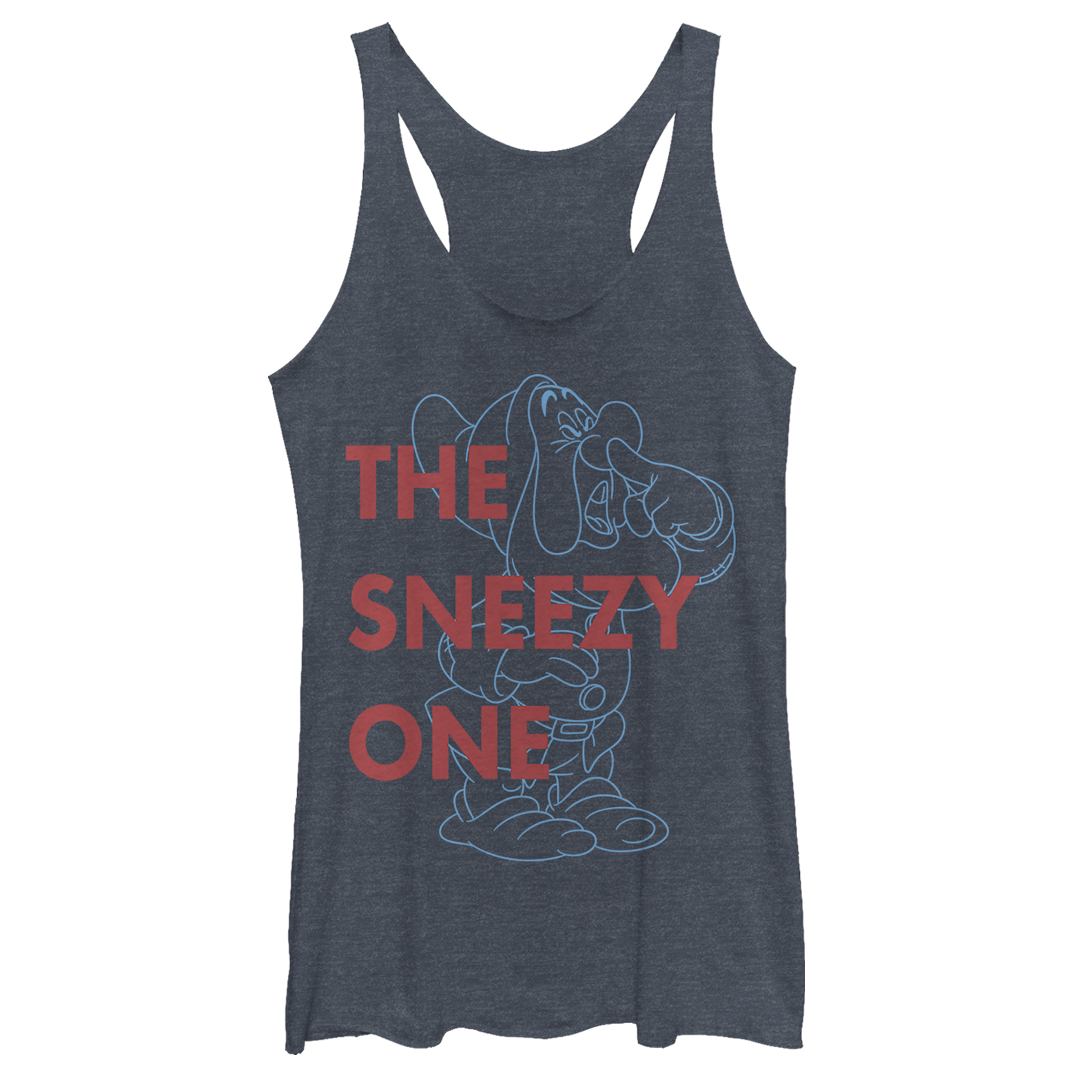 Snow White and the Seven Dwarves Women's Sneezy One Racerback Tank Top