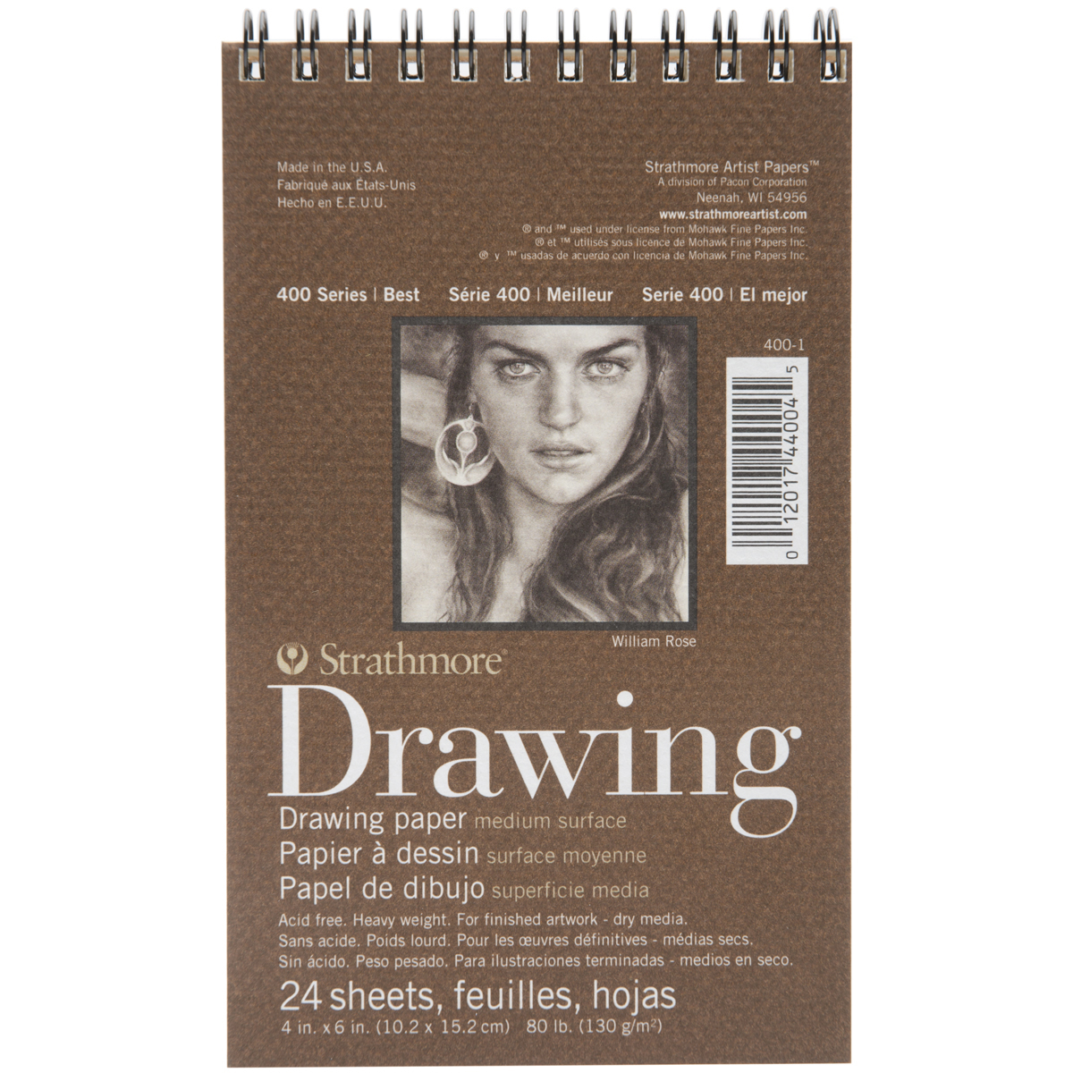 "Strathmore Drawing Medium Paper Pad, 4"" x 6"", 24 Sheets"