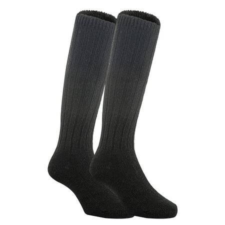 Lian LifeStyle Unisex Baby Children 3 Pairs Knee High Wool Blend Boot Socks Size 4-6Y  (Black)](Toddler Knee High Socks)