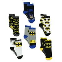 Batman Boy's 6 pack Athletic Crew Socks (Baby/Toddler) BM7776B