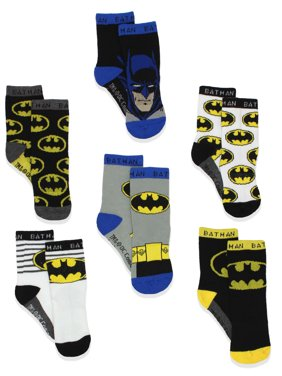 Batman Boy's 6 pack Athletic Crew Socks (Baby/Toddler) BM7776B