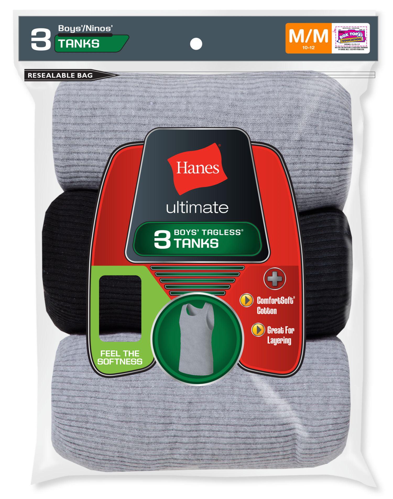 ef3f7cc153e5e5 Hanes - Boys  Hanes Ultimate ComfortSoft Dyed Tank Undershirt 3-Pack -  Walmart.com
