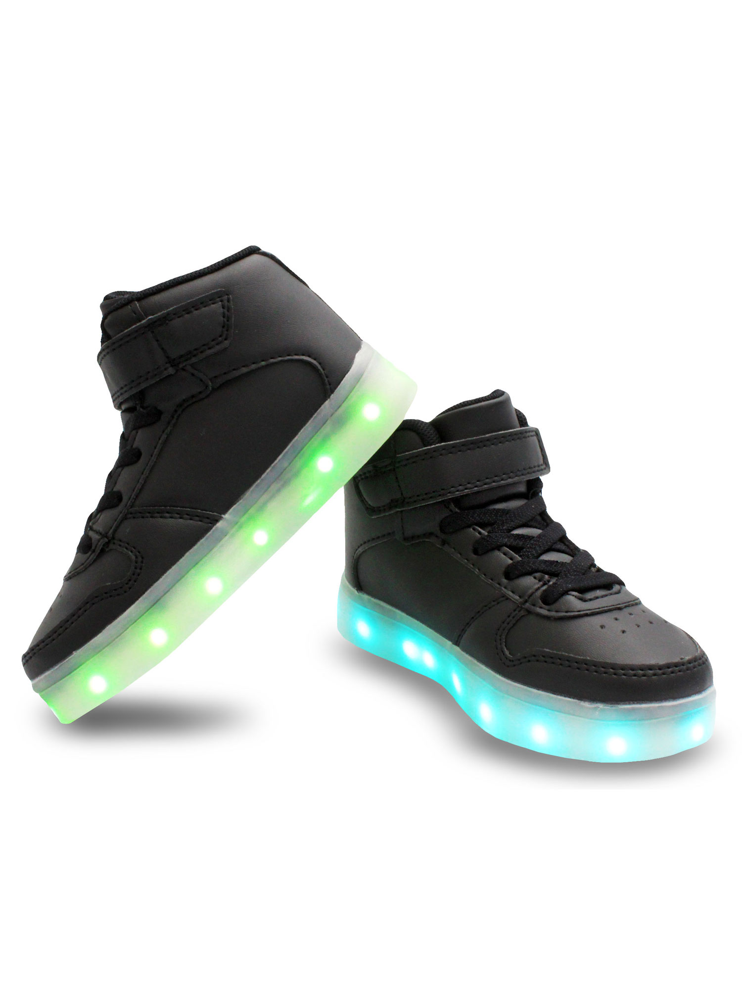 Galaxy LED Shoes Light Up USB Charging High Top Kids Sneakers (Black) -  Walmart.com