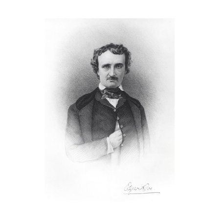 Portrait of Edgar Allan Poe (1809-49) Print Wall Art By Ismael Gentz
