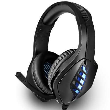 EEEKit Stereo Gaming Headset for PS4, Xbox One, Nintendo 3DS, Noise Cancelling Over Ear PC Gaming Headphones with Anti-Noise Mic, 40mm Drivers, Surround Sound, Soft Memory Earmuffs Virtual Surround Sound Headphones