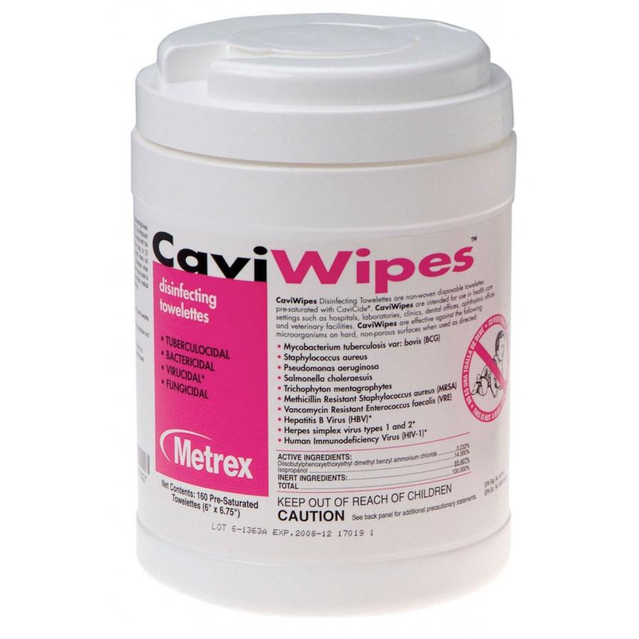 METREX Caviwipes Surface Disinfectant 6 x 6.75 , 2640 Cou...