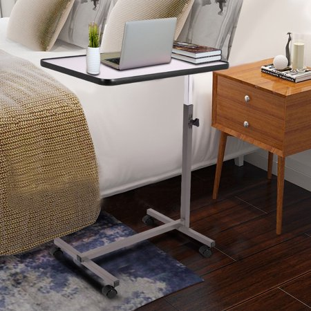 Fantastic Gymax Overbed Rolling Table Over Bed Laptop Tray Tilting Top Gary Download Free Architecture Designs Lukepmadebymaigaardcom