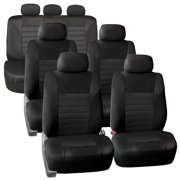 3 Row 7 Seaters SUV Seat Covers for Auto 3D Mesh Solid Black Full 3 Row Covers Set For SUV Van