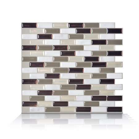 Smart Tiles 10.20 in x 9.10 in Peel and Stick Self-Adhesive Mosaic Backsplash Wall Tile - Murano Stone (each)