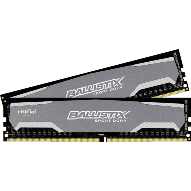 Crucial 8GB Kit (4GBx2) DDR4 PC4-19200 Unbuffered NON-ECC 1.2V 512Meg x 64