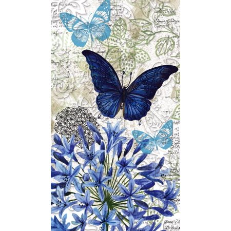Accent Napkin - Blue Floral Study Embossed Paper Napkin, 15 count, Accent the decor at your next gathering or party with these napkins By Cypress Home from USA