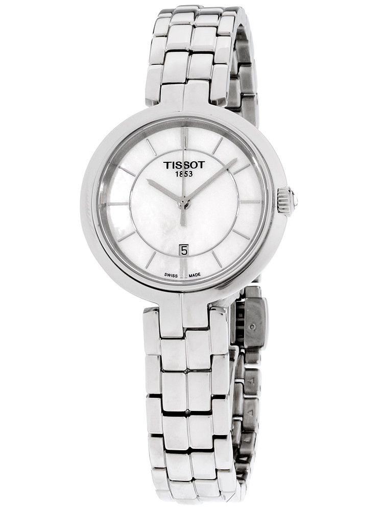 Flamingo Mother of Pearl Dial Stainless Steel Ladies Watch T0942101111100