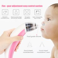 WALFRONT Baby Infant Electric Nasal Suction Machine, Kids Nasal Aspirator Nose Cleaner Snot Sucker Device for Home & Travel Use