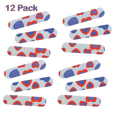 Girly Mini Emery Boards - Pack Of 12 - 3 1/2