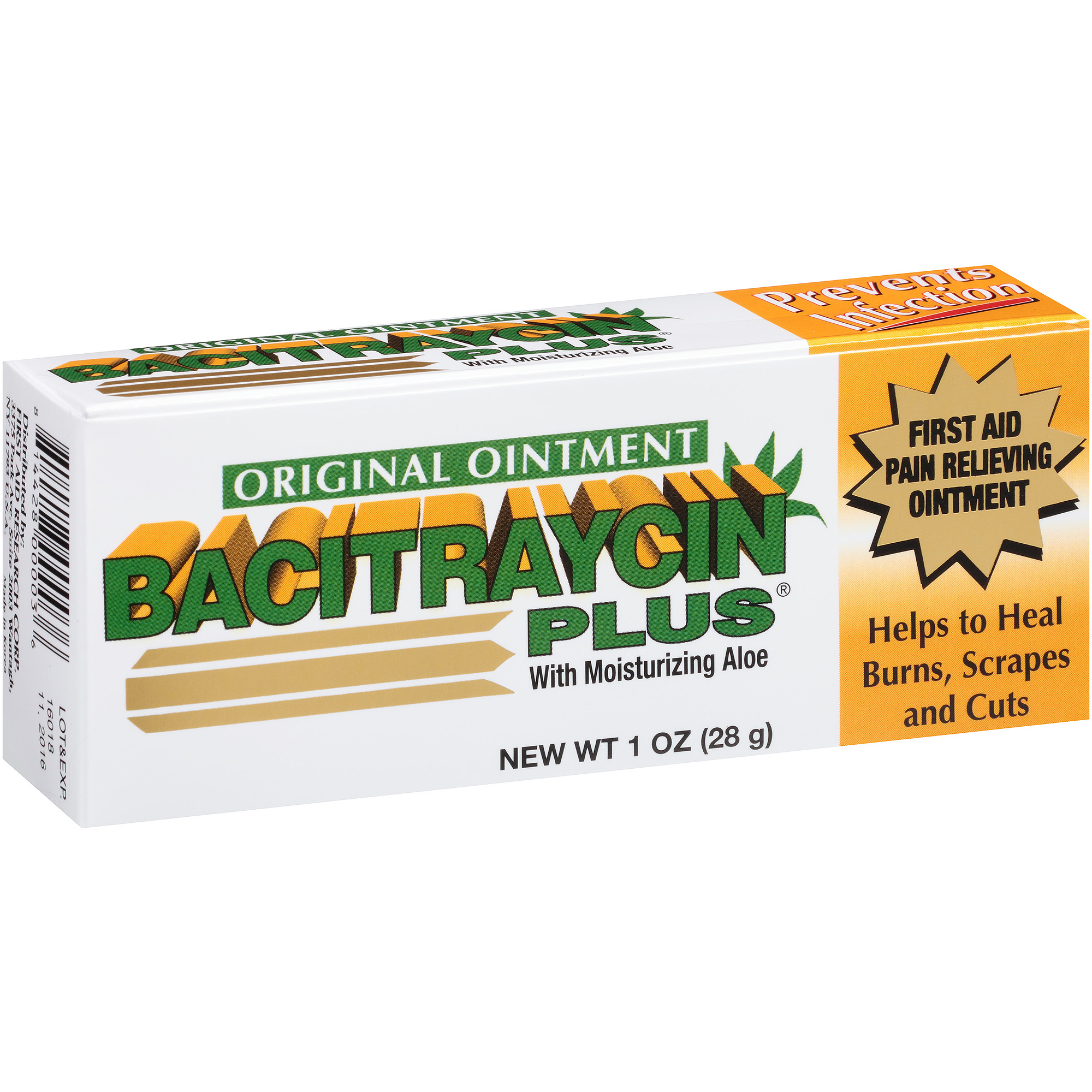 Bacitraycin Plus First Aid Pain Relieving Ointment, 1 oz