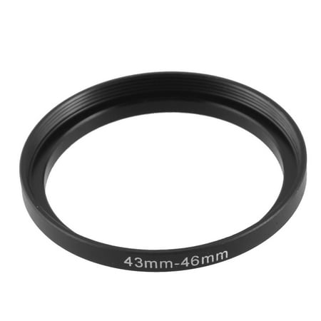 Unique Bargains 43mm to 46mm Camera Filter Lens 43mm-46mm Step Up Ring Adapter