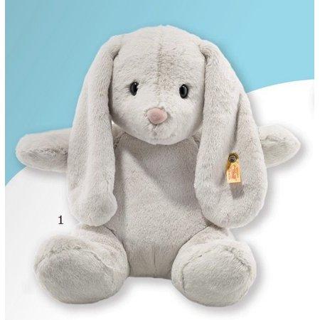 Hoppie Rabbit Light Grey 12 inch - Stuffed Animal by Steiff (080470)