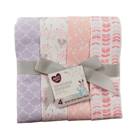 Parent's Choice Receiving Blankets, Songbird, 4 Pack Cotton Thermal Receiving Blanket