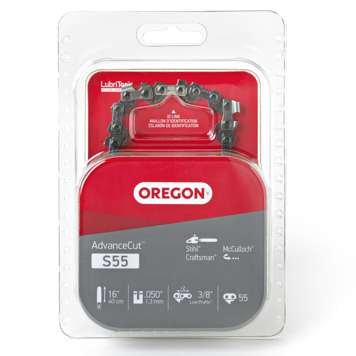 Oregon S55 AdvanceCut™ Saw Chain, 16""