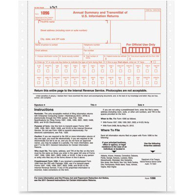 TOPS 1096 Tax Form TOP2202 (1096 Forms Laser)