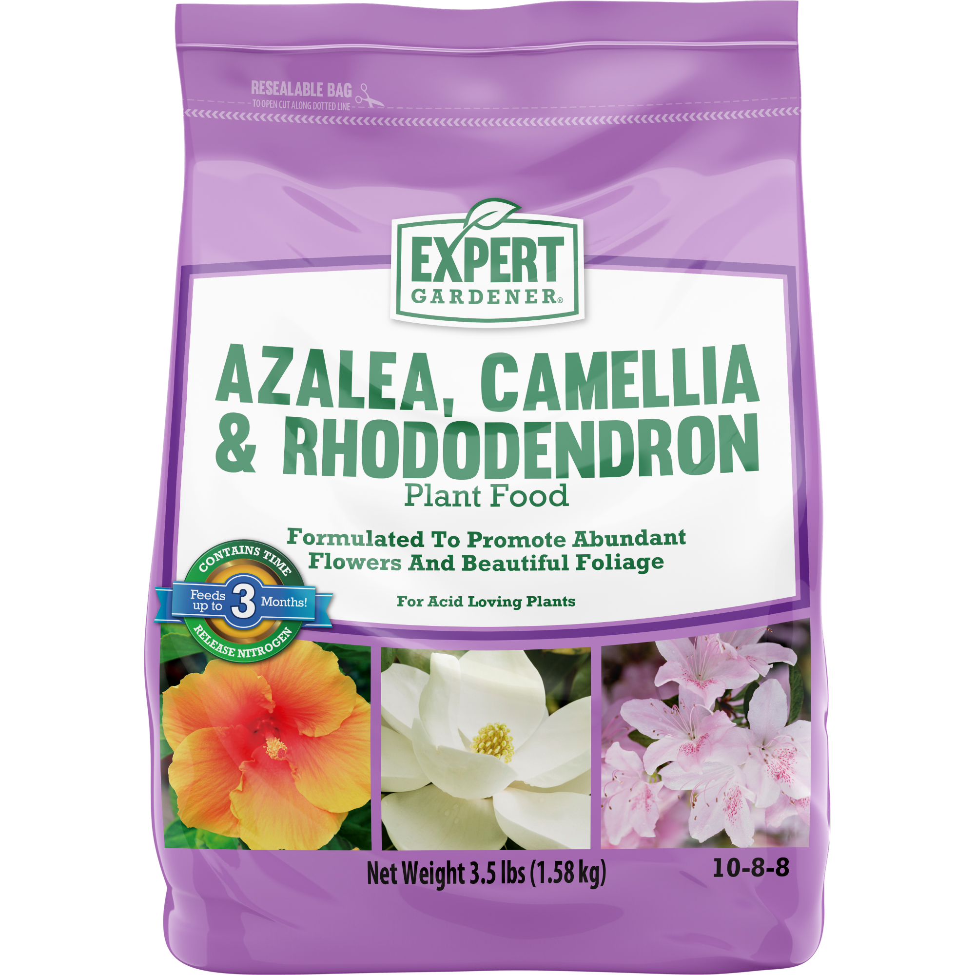 Expert Gardener Azalea, Camellia, and Rhododendron Plant Food 10-8-8, 3.5 Pounds
