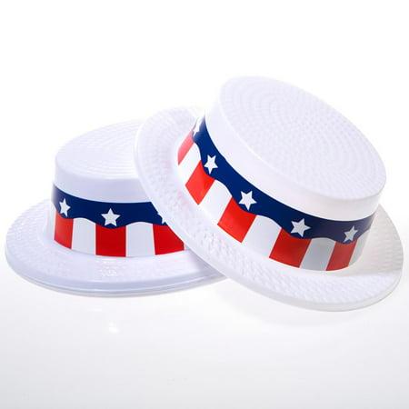 Skimmer Hats (Plastic Patriotic Skimmer)