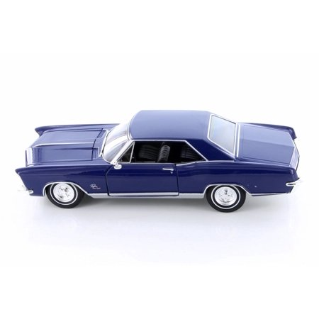 1965 Buick Riviera Grand Sport Hardtop, Blue - Welly 24072WBU - 1/24 scale Diecast Model Toy (1964 Buick Riviera)