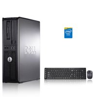 Dell Optiplex Desktop Computer 1.8 GHz Core 2 Duo Tower PC, 4GB RAM, 250 GB HDD, Windows 10