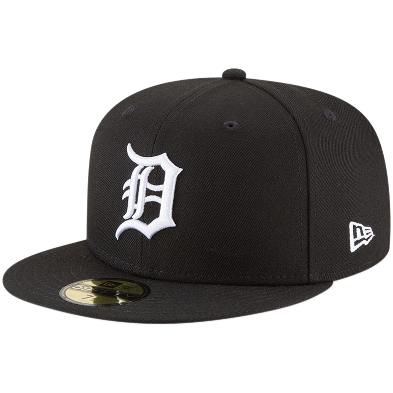 Detroit Tigers New Era Basic 59FIFTY Fitted Hat - Black