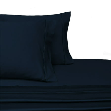 Luxury 100 Cotton 600 Thread Count Sheets Solid California King Size Bed Sets Navy