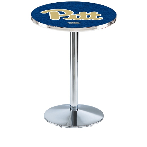 NCAA Pub Table by Holland Bar Stool, Chrome - Pittsburgh Panthers, 36'' - L214