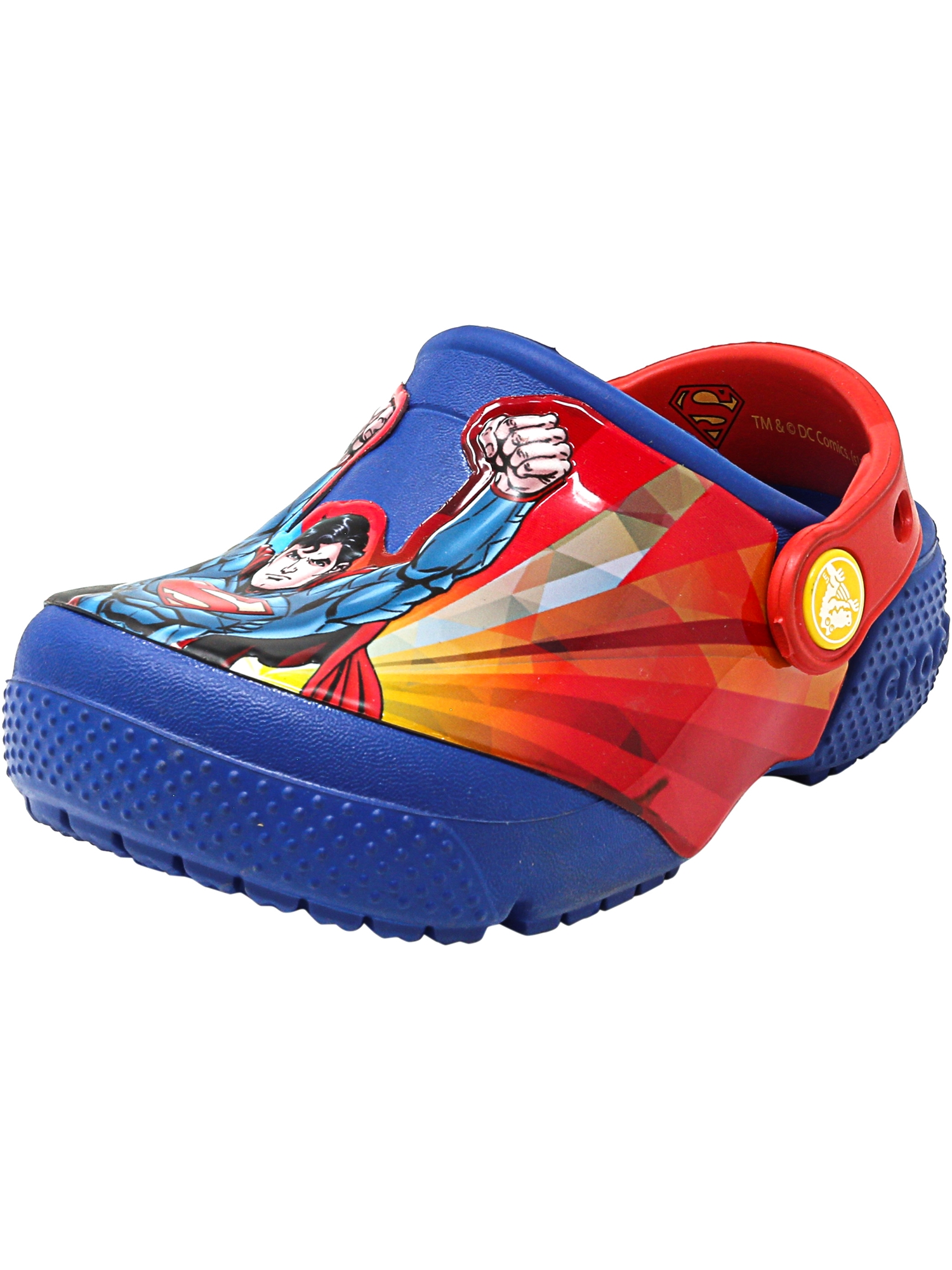 Crocs Crocsfunlab Superman Clog Blue Jean Ankle-High Clogs 3M by Crocs