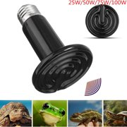 M.Way MOHOO 25-100W 110V E27 Pet Brooder Reptile Mini Infrared Ceramic Heat Emitter Heated Keep Warm in Winter Light Lamp Bulb   For Reptile Pet Brooder  Pet Grow Plant Turtle Zoo ,25W color