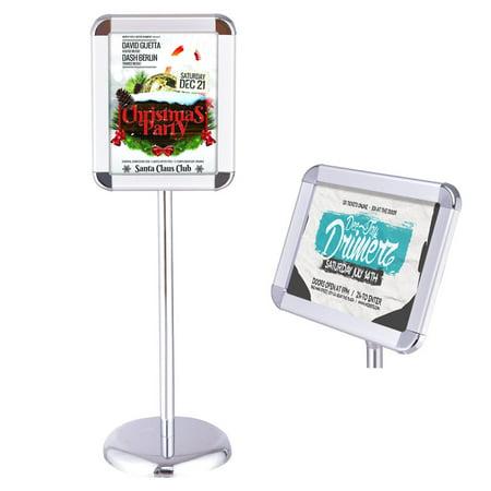 Adjustable Stand Pedestal (Goplus Adjustable Pedestal Poster Stand Aluminum Snap Open Frame For 8.5'' x 11'' Graphic)