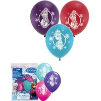 "Disney Frozen Anna Elsa Latex 12"" Balloon 6 Pack Party Decorating Supplies"