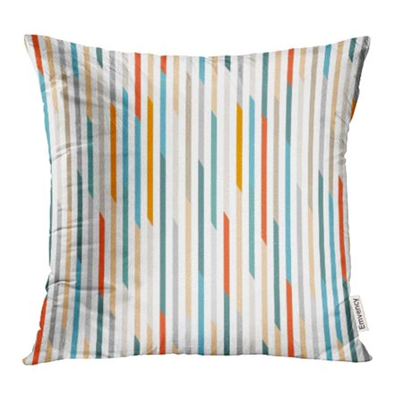 - ARHOME Abstract Thin Stripe Line Shape Streak Strip Vertical Pillow Case Pillow Cover 18x18 inch Throw Pillow Covers