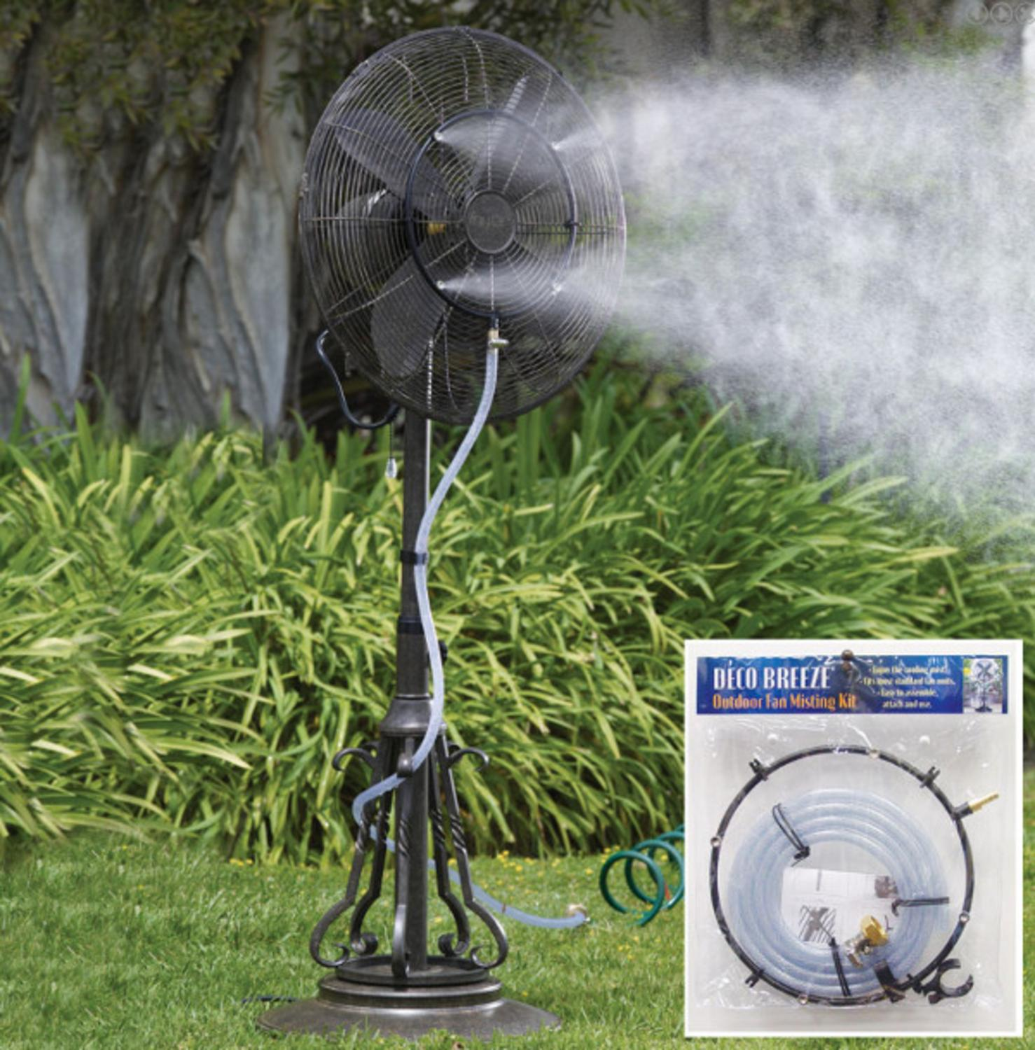 Outdoor Garden Patio Fan Water Misting Kit