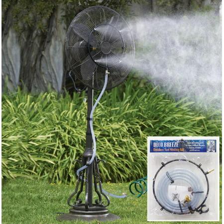 Outdoor Garden Patio Fan Water Misting Kit