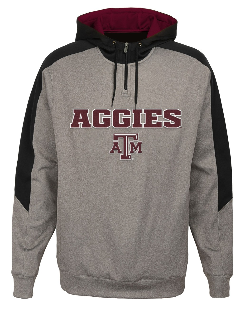 "Texas A&M Aggies NCAA ""Illustrious"" Men's 1 4 Zip Pullover Hooded Jacket by Gen2"