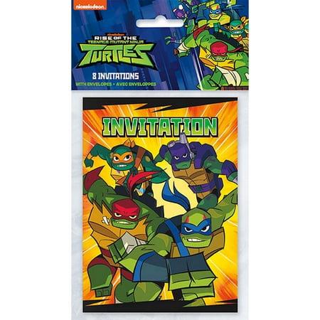 Teenage Mutant Ninja Turtles Invitations (8) - Ninja Turtles Invitations
