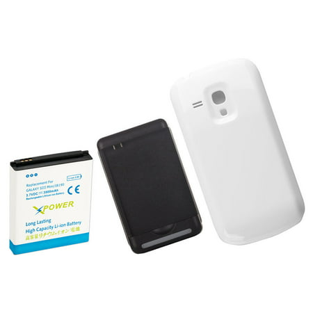 High Capacity Battery Door - X Power 3900mAh High Capacity Battery + White Door + Charger Galaxy S3 Mini 8190