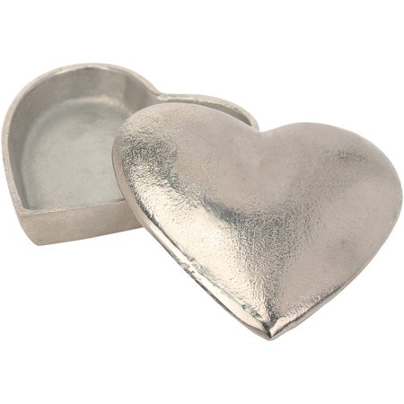 Metal Heart Shaped Textured Slate Box