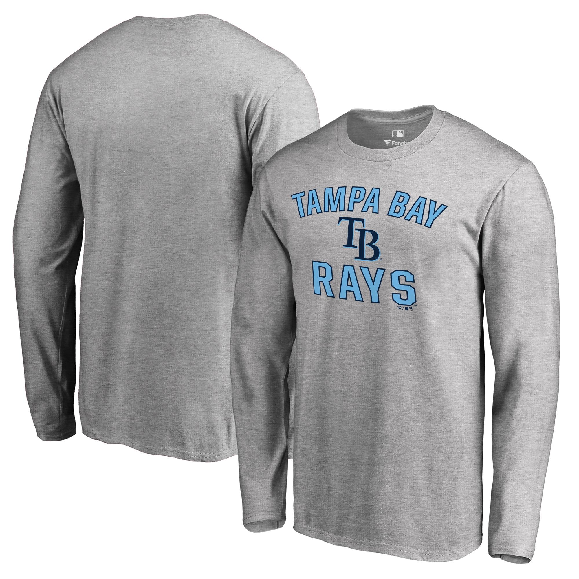 Tampa Bay Rays Big & Tall Victory Arch Long Sleeve T-Shirt - Ash