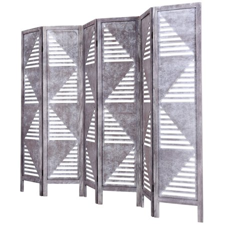 Super 6 Panel Room Divider Wood Folding Freestanding Partition Download Free Architecture Designs Embacsunscenecom
