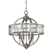 "Donny Osmond Home 4850 4 Light 18"" Wide Pendant from the Davis Collection"