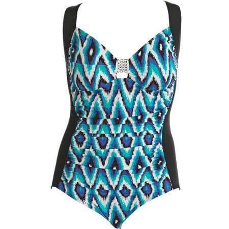 48faa00842 Tessuto - Contour by Tessuto - Women s Plus-Size Slimming Shirred-Front  One-Piece Swimsuit - Walmart.com