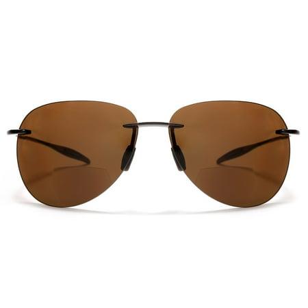 SAMBA SHADES - Maui Sports Aviator Bi-Focal Sun Readers Sunglasses Ultra  Flex TR90 Brown - 1   Brown - Walmart.com a9b723e3f0