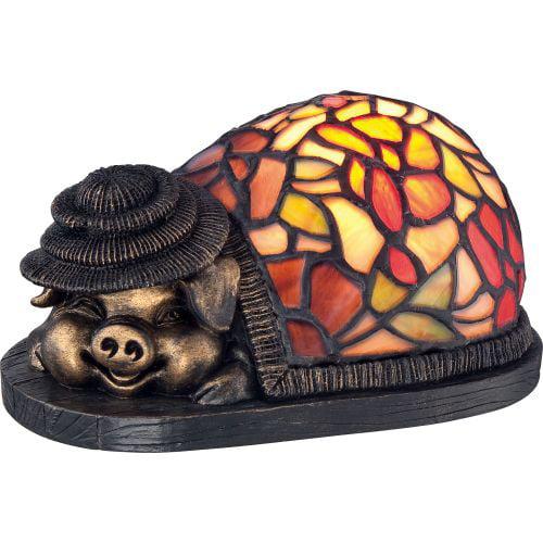 Quoizel Ashley Harbor Table Lamp Tiffany Pig w  1 Light 15W by Quoizel